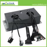 HDMI+USB+VGA+2*Cat5e+3.5mm+Power+RCA duikt de Kabel, de Contactdoos van de Desktop van het Type op