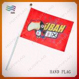 Bandeira à mão plástica da vara da alta qualidade da fábrica de Guangzhou (HYHF-AF053)