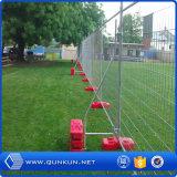 Chaud plongé location de clôture provisoire enduite galvanisée et de PVC