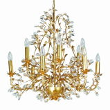 Fábrica Top Sale Classical Silver Foil Luxo 6 Lights Crystal Chandelier for Project
