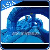 Outdoor Giant gonflable Ocean Blue Water Slide avec piscine