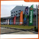 Напечатанные таможней флаги пера для рекламировать