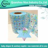 Bande de face non tissée de /Magic de bande de tissu pour les matières premières de couche-culotte de couche-culotte adulte de bébé