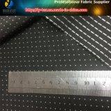 Ткань покрашенная пряжей в белом МНОГОТОЧИИ для одежды (YD1184)