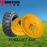 Le pneu solide élevé de chariot élévateur de la Chine Qualiity 16*6-8, résilient Facile-A ajusté le pneu solide 16X6-8