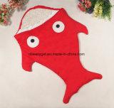 아기 총괄적인 아기 부드럽게 파랑은 안락 보유 아기 아늑하고 & 온난한 아기 상어 모양 디자인 담요를 위해 총괄적인 여분을 두껍게 싼다