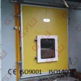 Portello scorrevole con la finestra di vista per cella frigorifera