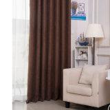 Tissu solide de rideau en arrêt total de Chenille moderne de type (14F0066)