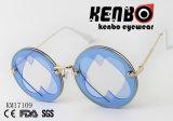 Lente redonda entre dois óculos de sol os mais atrasados Km17109 da forma da lente do corte da forma do coração