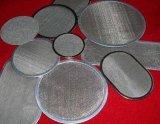 Disco del filtro de acoplamiento de alambre de metal