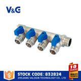 Латунный выпускной трубопровод с никелем покрыл (VG-K23021)
