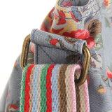 I reticoli floreali blu impermeabilizzano la signora Handbag (23239) della tela di canapa del PVC