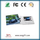 Поздравительная открытка LCD выдвиженческого подарка 7.0 '' видео- бумажная