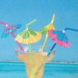 Paja tropical de la bebida del paraguas del partido de coctel - grande para los partidos, bebidas