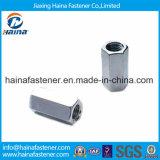 DIN6334 noce di accoppiamento Hex placcata zinco dell'acciaio inossidabile 304