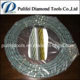 Serra de fio de diamante para máquina de corte de arame de pedra base de aço
