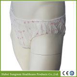 Printing Panties使い捨て可能なNonwoven女性
