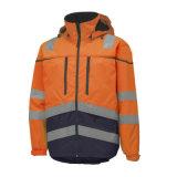 chaqueta caliente de la seguridad del alto invierno reflexivo impermeable de la visibilidad