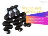 Venda por grosso de tafetá natural do cabelo Remy Virgem cabelos humanos brasileiros Emerald 3 em 1 onda de Corpo