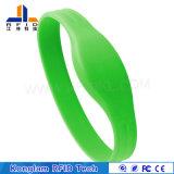 Wristband elegante del silicón de las varias virutas RFID para las bibliotecas de enfriamiento