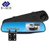 Appareil-photo duel de tableau de bord de lentille avec le véhicule DVR d'appareil-photo de Rearview