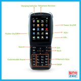 Terminale mobile tenuto in mano di dati con il supporto 3G/GPS/WiFi (unità mobile industriale della stampante di PDA)