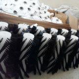 Brosse à poils en nylon noir de nettoyage