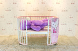 طفلة [فورنتيور] أطفال [فورنتير] خشبيّة معدن قابل للتحويل جو سرير خفيف قابل للتحويل جو مستديرة