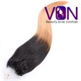 Extensão brasileira do cabelo do anel do cabelo humano de qualidade superior de Ombre micro