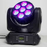 DJ Stage 7PCS 12W RGBW Moving Head LED Raio de Luz