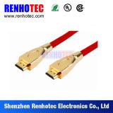 Chapado en oro HDMI Cable coaxial de soldadura