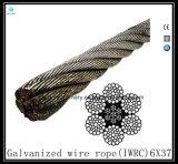 6X37 Iwrcによって電流を通されるワイヤーロープEips (鋼鉄コア)