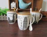 Tazas japonesas de la porcelana del precio competitivo para el té con la etiqueta