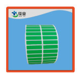 Etiqueta autoadesiva cinzenta verde feita sob encomenda