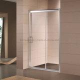 porta deslizante do chuveiro do frame do Al do vidro Tempered de 6mm