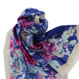 100% Worsted Wool printed Stole Shawl (AHY30001231)