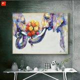 野性生物の動物の壁の芸術象の油絵