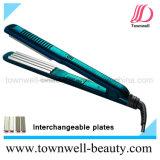Venta caliente Plancha de pelo con placas intercambiables
