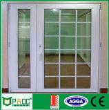 Австралийский стандарт алюминиевая дверная рама перемещена дверь с решеткой дизайн (PNOC0050CMD)