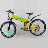 남자를 위한 전기 자전거를 접히는 숨겨지은 건전지에 의하여 운영하는 도시 바닷가 함