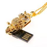 USB Flash Drive de metal del diamante Material de búho de la historieta 2,0