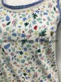 maglia pastorale naturale di stile del ringrosso 100%Cotton per le donne con stampa All-Over