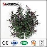 Violet artificielle des feuilles des plantes pour le paysage décor mural