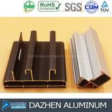 Profil en aluminium anodisé de couleur en bronze pour la porte de guichet