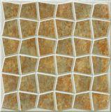 Materiale da costruzione, materiale della decorazione, mattonelle di pavimento rustiche, mattonelle di pavimento rustiche della porcellana, nessun mattonelle di pavimento grige del reticolo del quadro delle mattonelle di pavimento di colore giallo di slittamento 300*300mm,