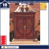 Außen- und doppeltes Innenpanel-feste Teakholz-Holz-Tür