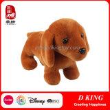 Do brinquedo macio do luxuoso do cão de Brown animal enchido