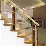 高品質の内部のステンレス鋼アルミニウムによって切り分けられる階段付属品のコラム