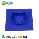 Silicone Non-Slip Placemat do bebê do padrão de alimento do FDA