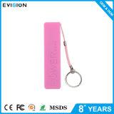 Portable do USB do preço de fábrica banco de uma potência de 2600 mAh com perfume e keychain